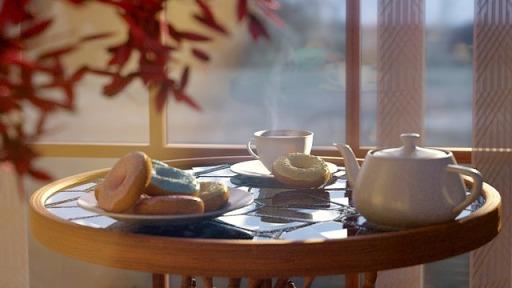 ドーナツ・紅茶イメージ画像